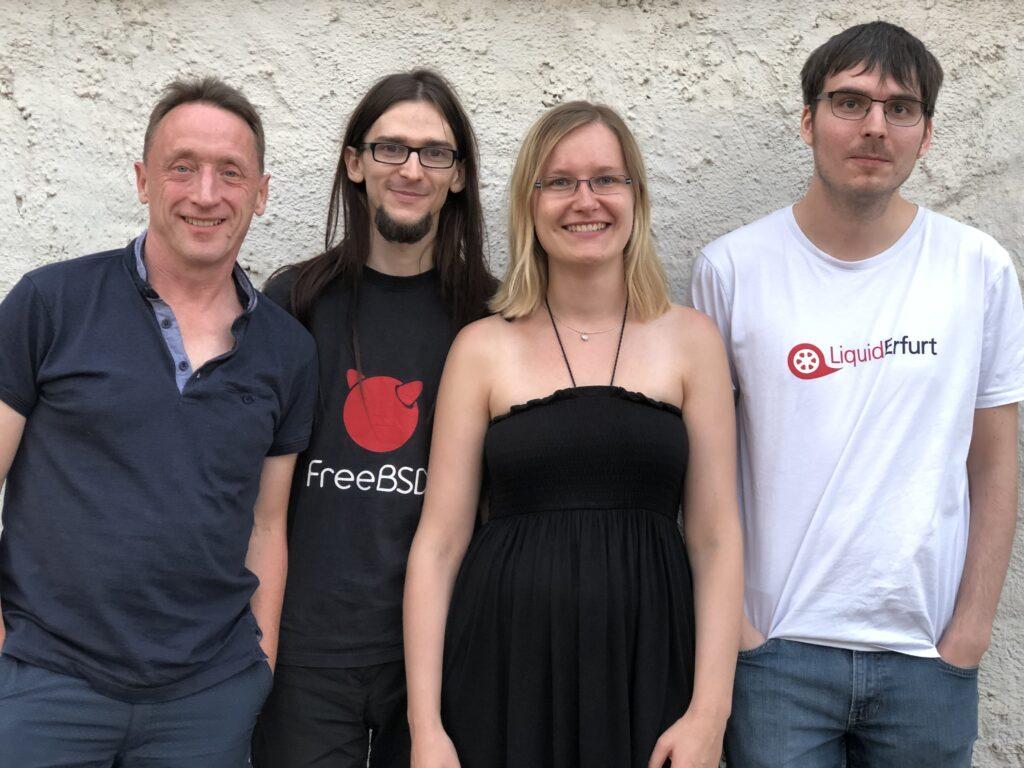 Der aktuelle Vorstand des Demokratielabor e.V.: Udo Schönemann, Thomas Sänger, Astrid Gäbert und Christian Beuster